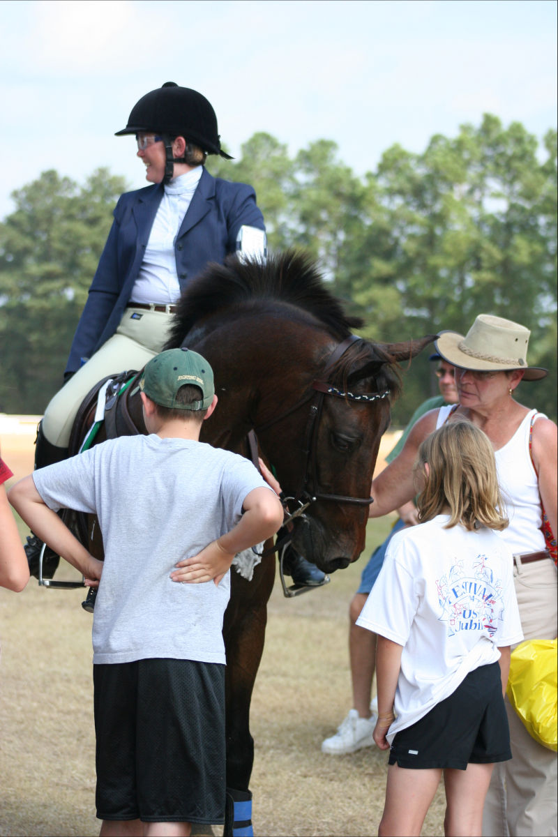 My kids and me (and my aunt Cindy) at the AECs in 2006, taken by my uncle, Michael Evertson.