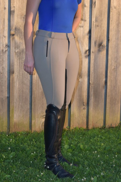The FITS Duet breeches are front zip, and have a slightly lower rise than the Original All Season breeches - Photo by Lorraine Peachey