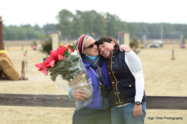 Pat Gibson and Vicki Reynolds at Carolina Horse Park. Photo courtesy of High Time Photography.