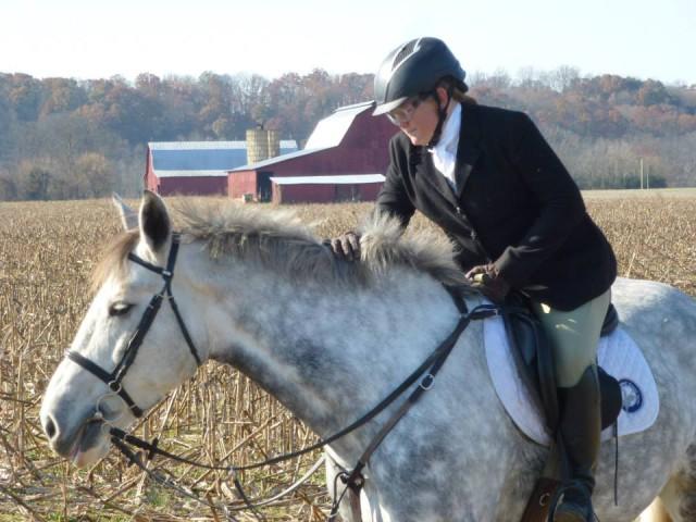 Photo by Dene Masengill-Jones. Please note lack of flash, logo saddle pad, and corn.