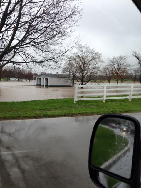 Entrance to the Horse Park, 7:30 pm Friday. Photo Credit: Courtney Carson