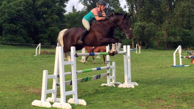 Carrie's student Julia Muir and her horse, Sophie. Photo courtesy of Mulks Eventing.