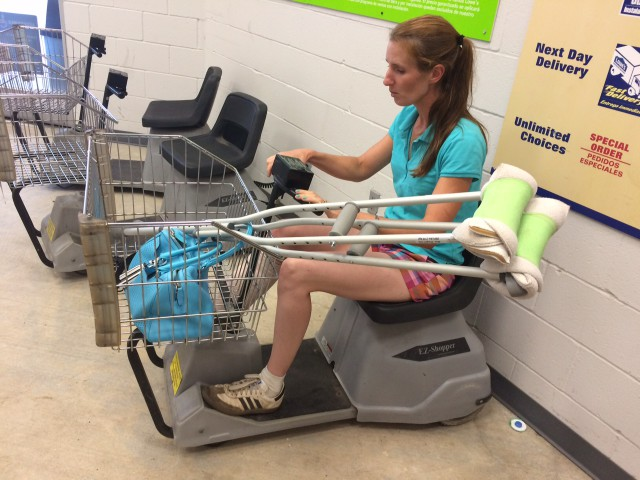 Taking advantage of motorized assistance.