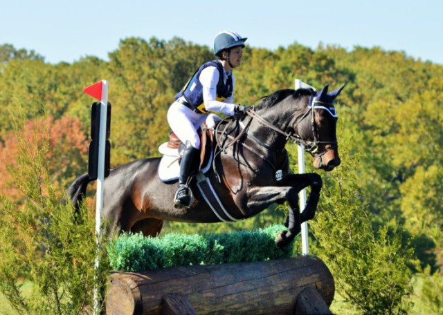 Lynn Symansky and SpectraVET Cohiba, winner of the 2015 USEA YEH Overall 5-Year-Old Championship. Photo by Sally Spickard.