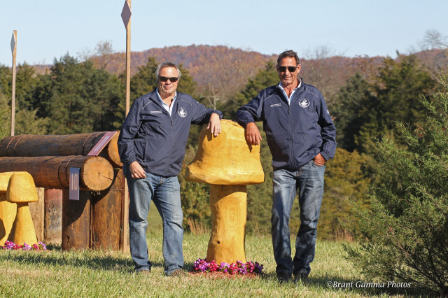 VHT organizer Andy Bowles and FEI course designer John Nicholson. Photo by Brant Gamma.