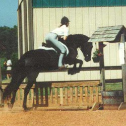 """""""Bad Eventer as a teenager! Don't ask about the jodhpurs."""""""