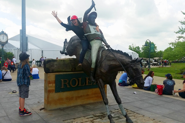 The closest I'll ever get to riding at Rolex. Photo by Erik Jacobs, P.TEN Marketing