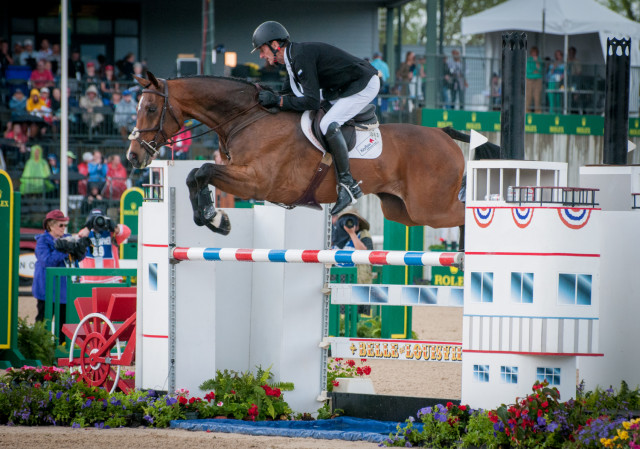 Mark Todd and NZB Campino. Photo by Leslie Threlkeld.