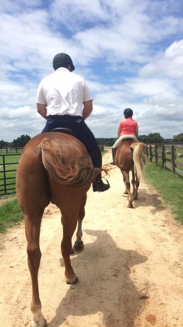 Scott Shiminski and his wife Alison at Full Gallop Farm H.T. Photo by Mia Hughes.