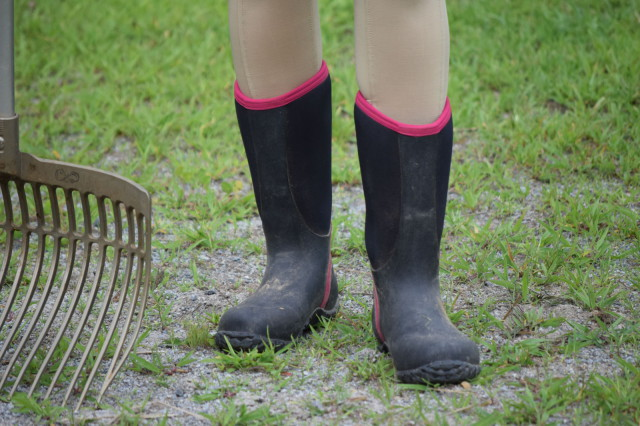 I'm happy to report that the rugged lug pattern of the Alpha Lite boots help provide me with good footing. On dry ground. And in wet and muddy conditions...when they also keep my feet dry! Photo by Lorraine Peachey.