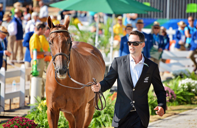Jock Paget and Clifton Lush at the 2016 Rio Olympic Games. Photo by Jenni Autry.