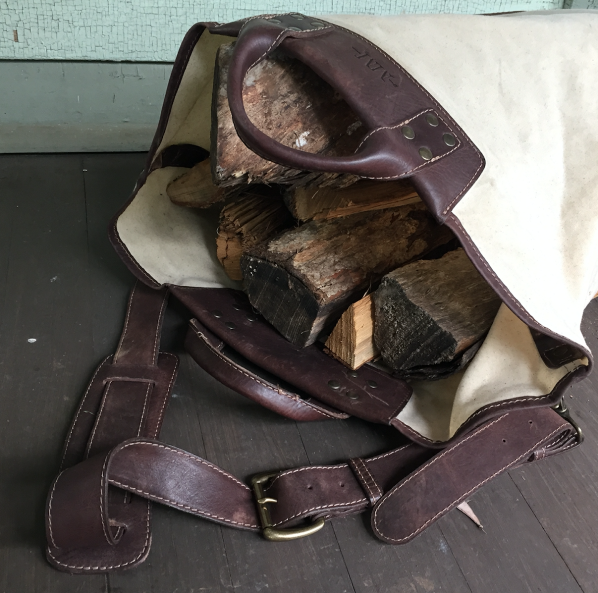 Firewood = no problem for this heavy-duty bag! Photo by Leslie WYlie.