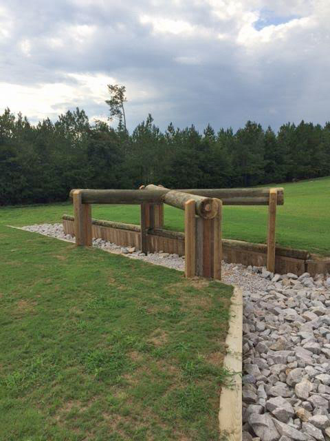 Another view of one of the new permanent fences. Photo courtesy of Stable View.