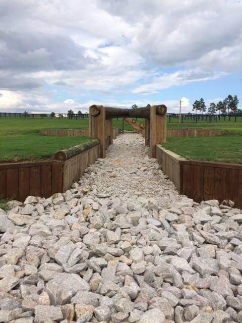 A new permanent fence on the Advanced course. Photo courtesy of Stable View.