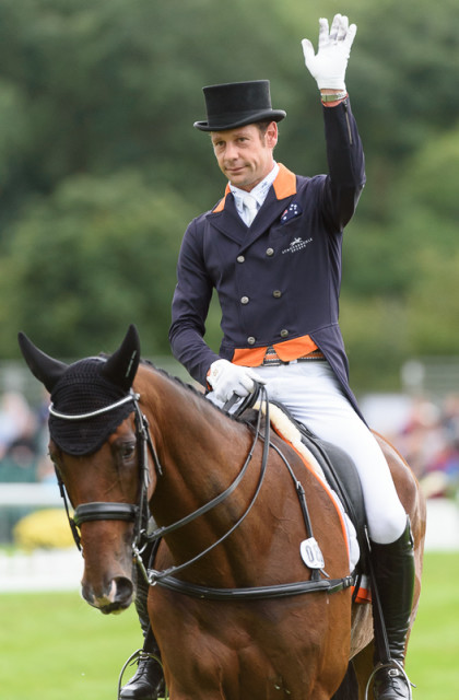 Chris Burton and Nobilis 18 take Land Rover Burghley Horse Trials dressage lead Photo by Nico Morgan