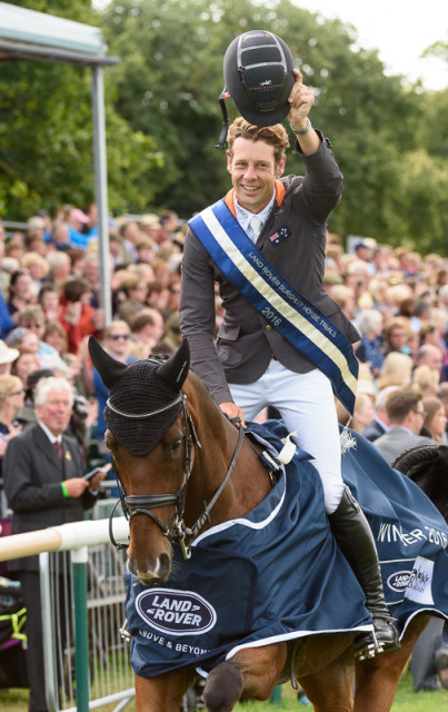 Chris Burton wins The Land Rover Burghley Horse Trials 2016 Photo by Nico Morgan