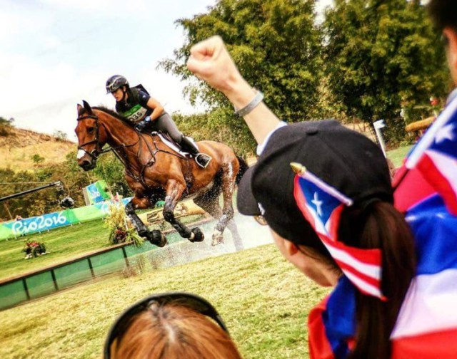 Lauren's best friend, Amy, cheers hard on cross country. Photo courtesy of FEI.