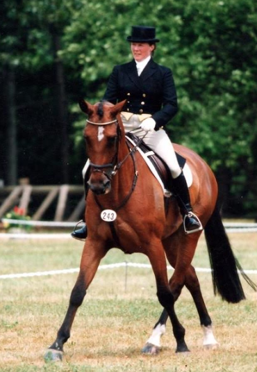 Bonnie Mosser evented Verbena to the Intermediate level in the 90s and did all her training. Photo by Ellen Sheppard McKee.