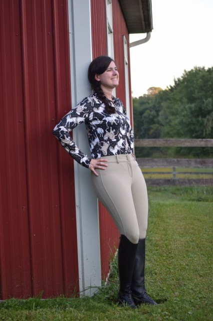 Kerrits Horse Sense Half Zip Riding Shirt. Photo by Lorraine Peachey.