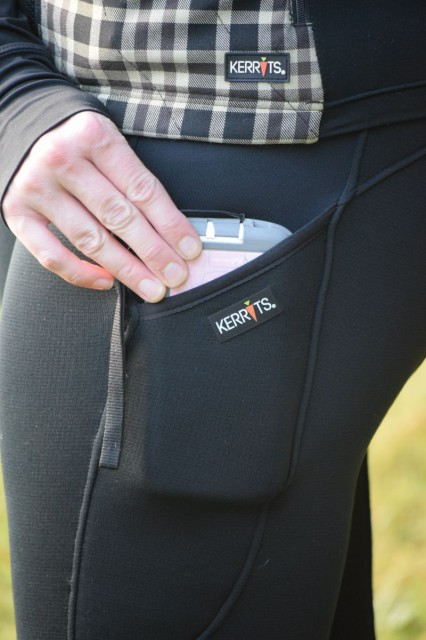 The updated design of the Sit Tight N Warm Pocket Fullseats feature two large side pockets. Which I absolutely adore, because they will hold my large smartphone in it's Otterbox case. Photo by Lorraine Peachey.