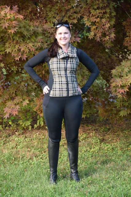 The Kerrits Sit Tight N Warm Fullseat tights have returned with a new and improved design. And although it's still early in the season, I just can't stop wearing them! Photo by Lorraine Peachey.