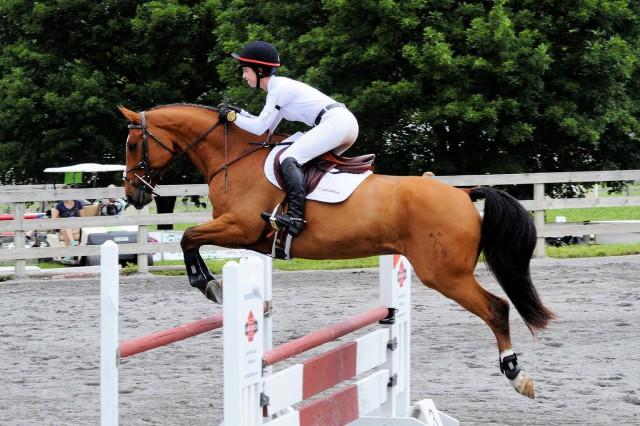 Ella Groner riding Grafton. Photo courtesy of Ella Groner.