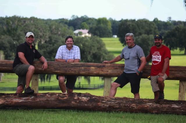 The cross country design and build team. Photo courtesy of Ocala Jockey Club.