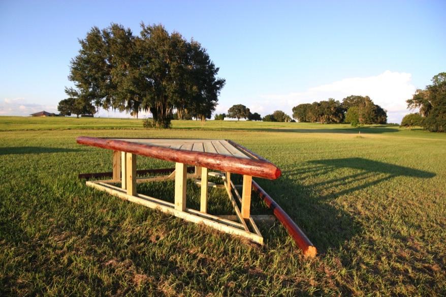 One of the many new cross-country jump built onsite. Photo courtesy of Ocala Jockey Club.
