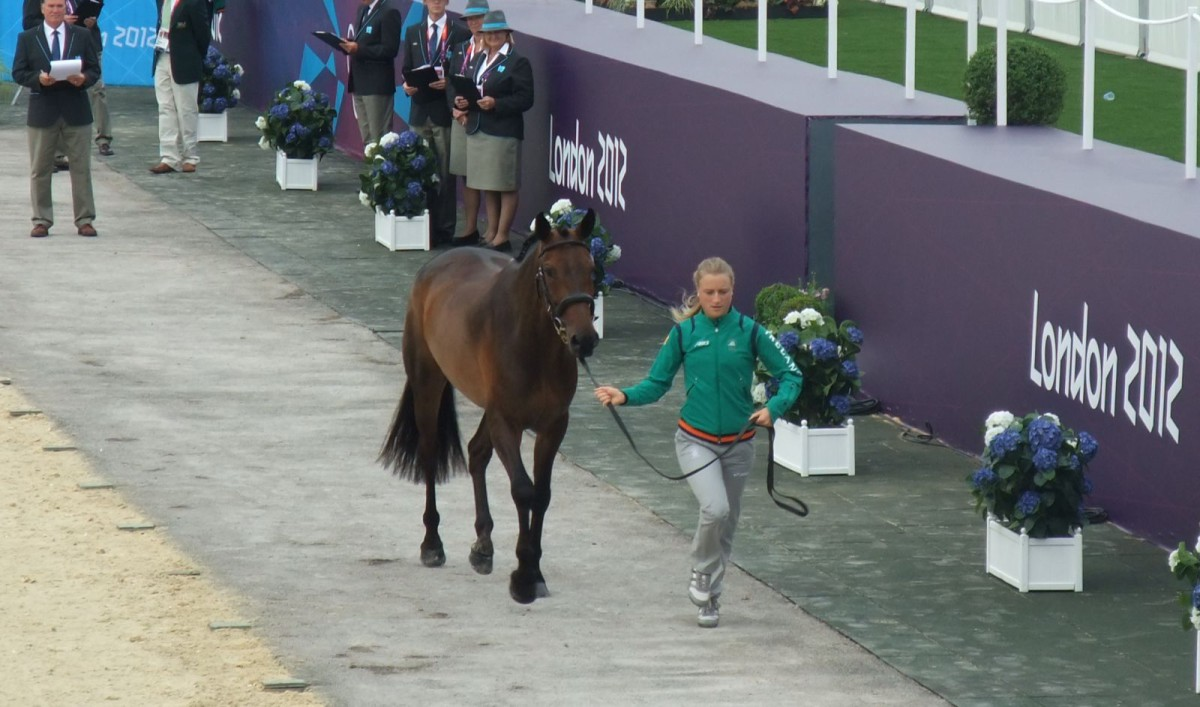 Camilla Speirs and Portersize Just a Jif were travelling reserves at Rio, having competed in 2012, pictured. Photo by Kathy Carter.