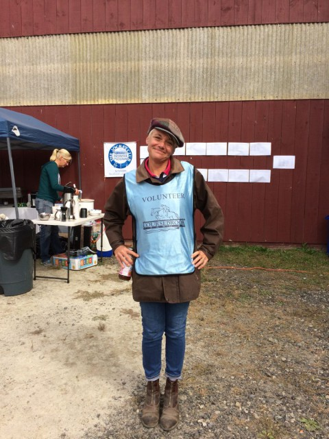 The unofficial 'Most Stylish Volunteer' award goes to dressage steward  Sara Michas! Photo Courtesy of Kristie Gill.