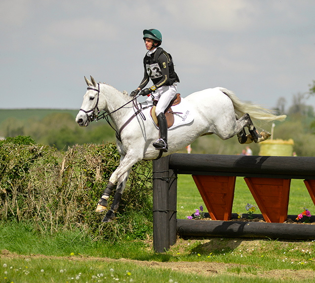 Sam Micklem and Smart Spirit on their way to winning the Kilmanahan CCI2* this spring. Smart Spirit is out of High Dolly and a half-brother of Mandiba, High Kingdom and William's stallion Jackaroo. Photo used with permission from EquusPix Photography.