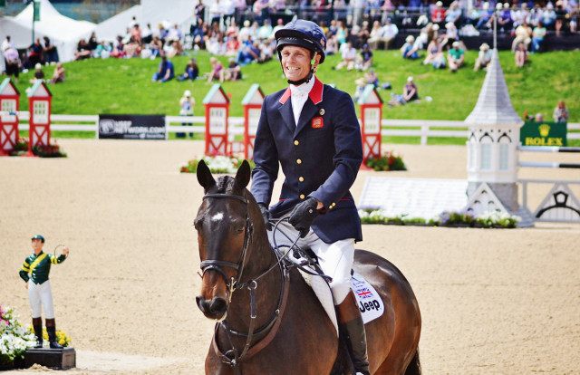 William Fox-Pitt and Bay My Hero after winning Rolex in 2014. Photo by Jenni Autry.