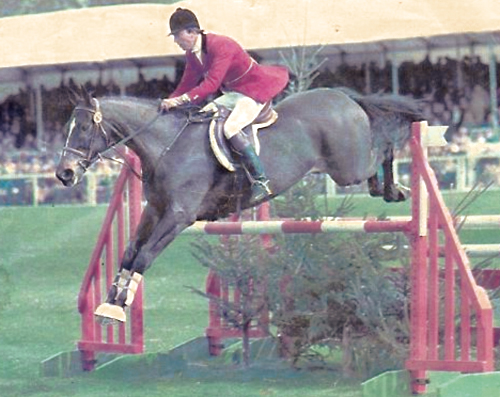 My brilliant brother Charlie on Village Gossip at Badminton in 1981. He was one of only two riders clear inside the time. The other double clear: a young Mark Phillips on Lincoln winning Badminton for the fourth time. Photo courtesy of William Micklem.