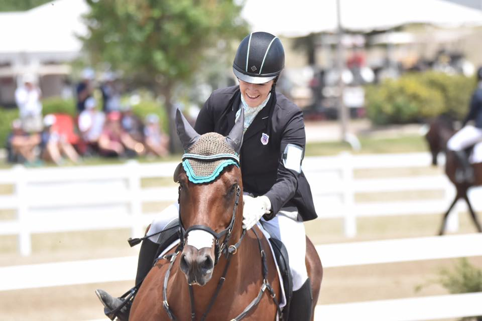 Chelsea and Dauntless Courage after NAJYRC Show Jumping. Photo by JJ Sillman.