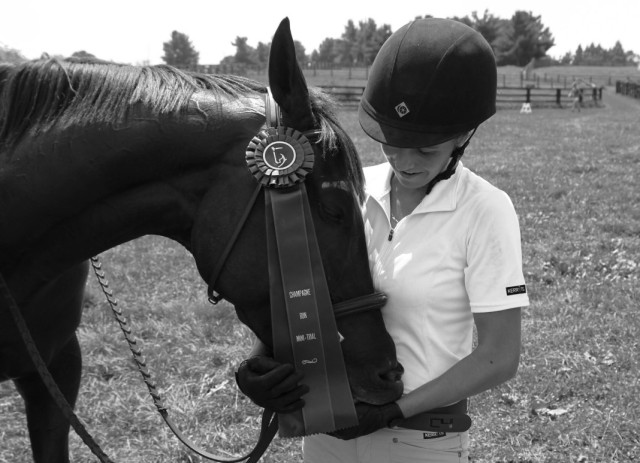 A tired baby pony and a happy Lindsay. Photo courtesy of Lindsay Gilbert.