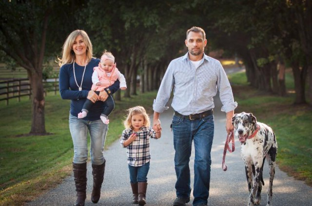 The Corradini family: Cate, Charleigh, Georgia, Javier and Lexi. Photo by Erika Hagen Photography.