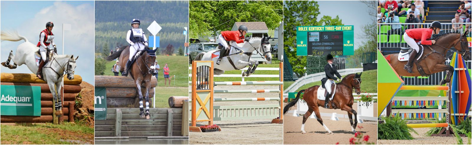 The Equestrian Canada Elite Eventing Squad: Colleen Loach, Hawley Bennett-Awad, Jessica Phoenix, Selena O'Hanlon and Rebecca Howard.