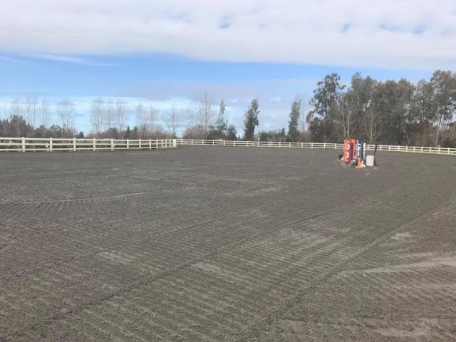 Flooding in town means perfect footing for Susie Hutchison's clinic at Dragonfire! Photo from Earl and Jen McFall's Facebook page.