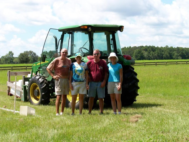 Charlie, Simone, Steve (former FHP Facilities Manager) and Jenn in 2010. Photo courtesy of Simone Cormier.
