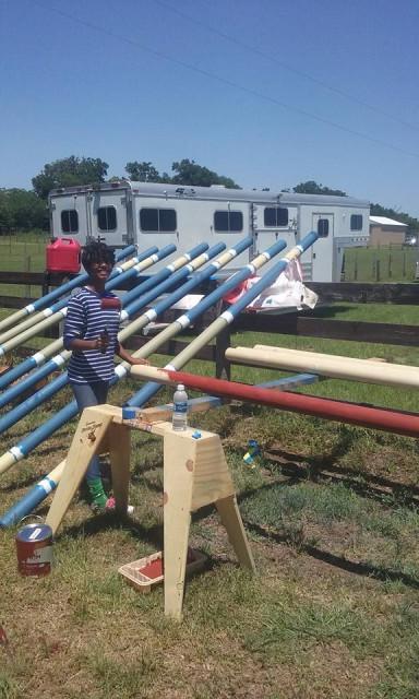 Schooling show entire fees buy brand new stadium rails! Photo via POP on Facebook.