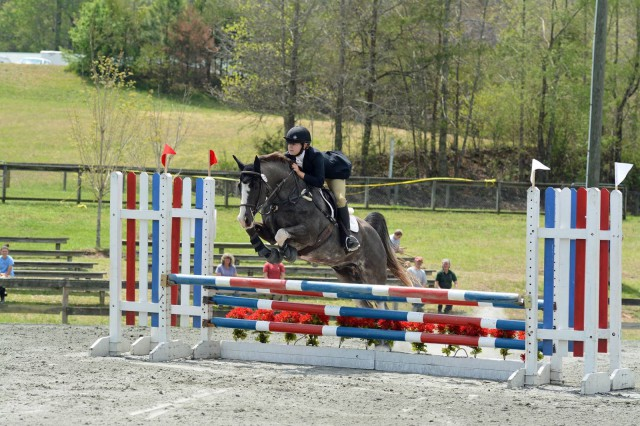 Ashley Jones and Pete at FENCE Horse Trials. Photo by Liz Crawley Photography.