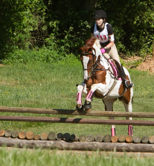 It looks like I'm riding JJ, but I'm actually riding the struggle bus. Photo by Oxer Farm.
