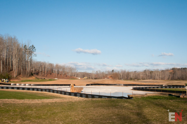 The massive new water complex. Photo by Leslie Threlkeld.