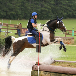 Jess and Sunny competing at Otter Creek Horse Trials. Photo by Derith Vogt of D&G Photography.