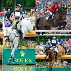 Boyd Martin and Crackerjack, Hannah Sue Burnett and Under Suspection, and Phillip Dutton and Fernhill Fugitive. Photos by Leslie Threlkeld.