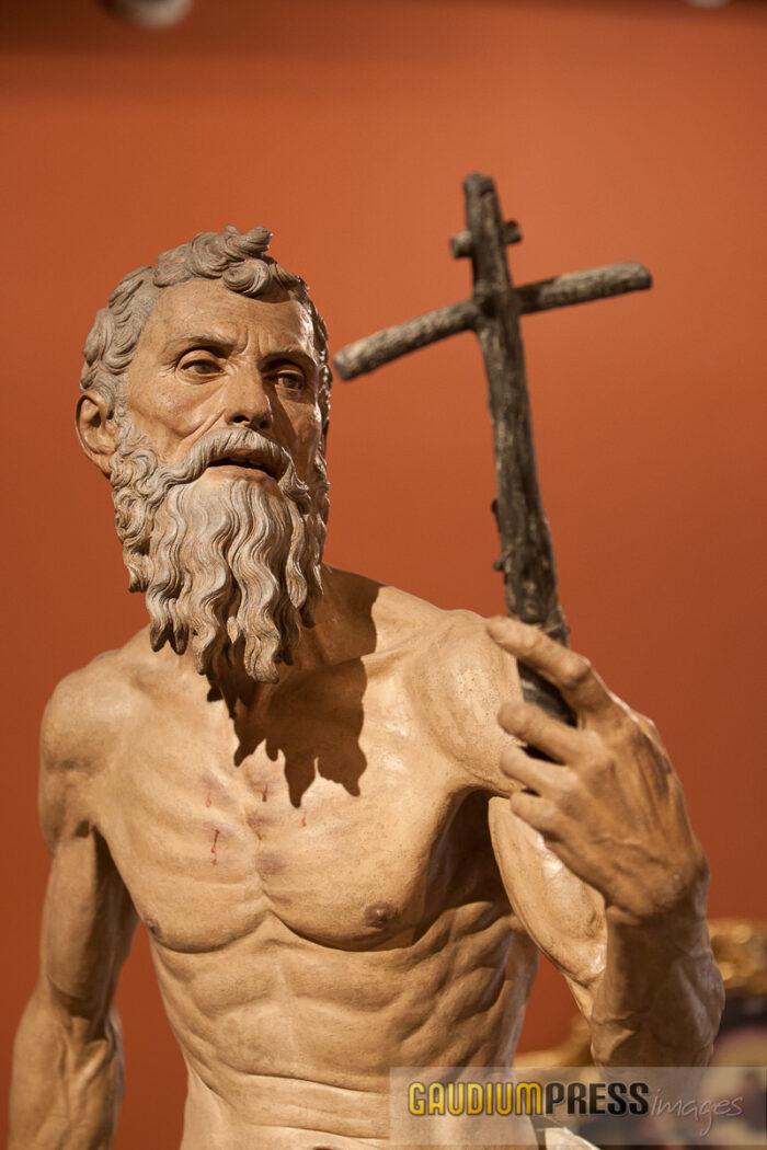 St Jerome- by Pedro Torrigiano, 1625 - fine arts museum - Seville, Spain
