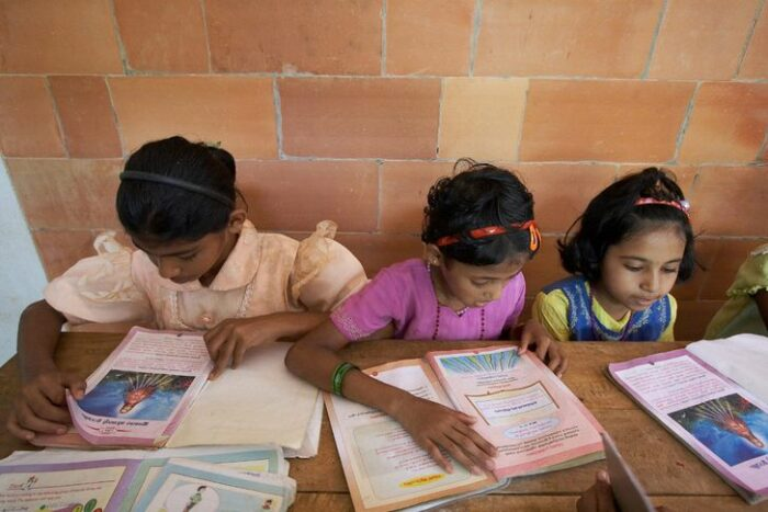 elementary students in india