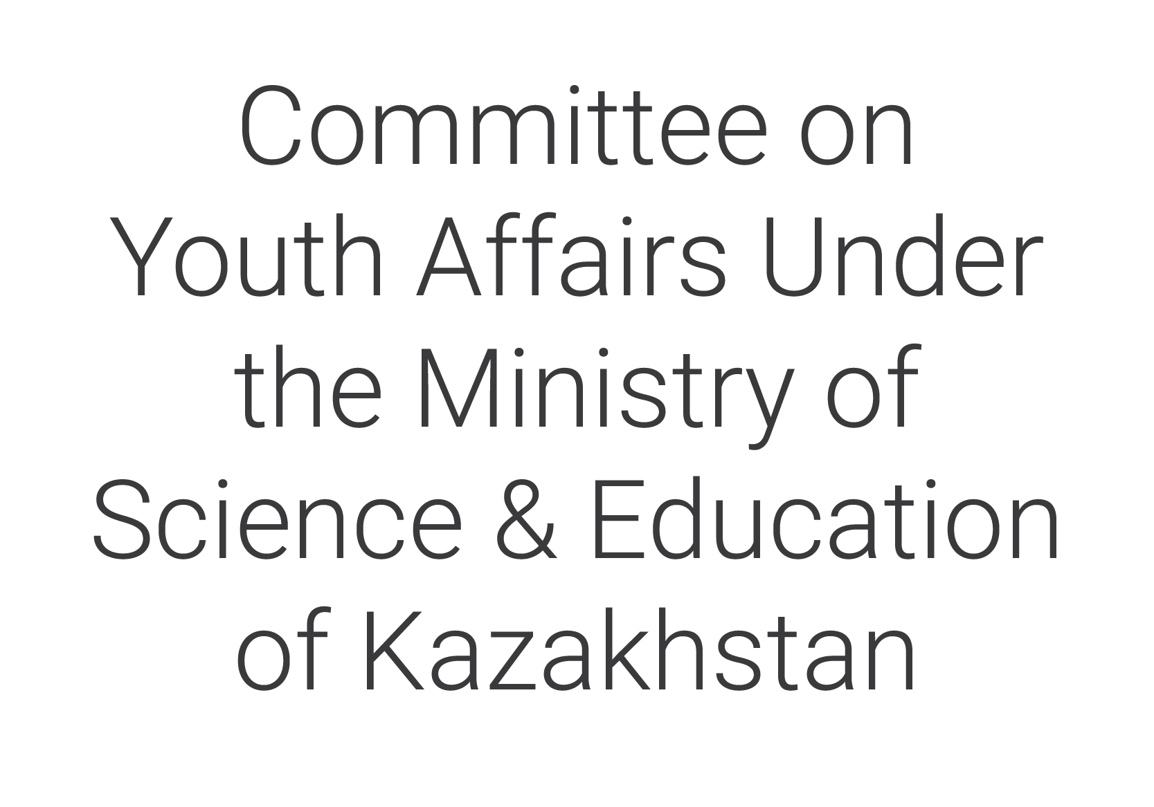 Committee on Youth Affairs Under the Ministry of Science & Education of Kazakhstan