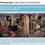 Asta Powerproject Case Study - Encore Electric