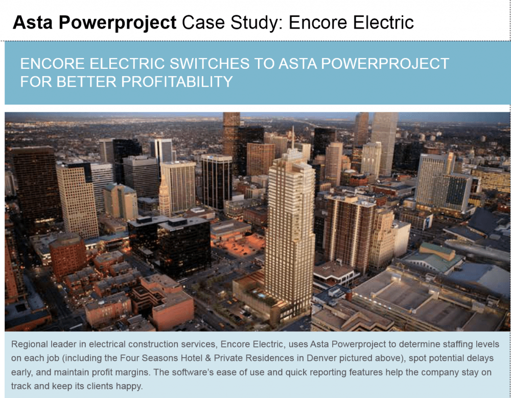 Asta Powerproject Case Study – Encore Electric